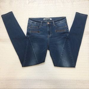 Noisy May Women biker Jeans skinny size 29 zipper